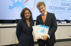 Nemat Shafik (Deputy Managing Director of the International Monetary Fund) and Victor Philippenko (Deputy Chair G-20Y Summit International Organizing Committee)