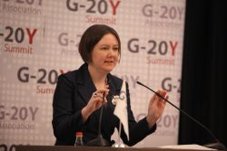 Ksenia Khoruzhnikova, G-20Y Association Founder and President, G-20Y Association Advisory Board Member delivers her speech