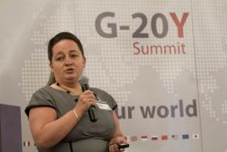 G-20Y Summit Opening Ceremony,Opening speech by the Chair the Possible crisis of the future Committee, Olga Ryabova, independent expert