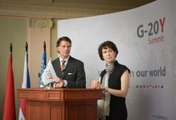 G-20Y Summit 2013 Closing Ceremony. Committee I Co-Chairs: Debra Crew, Patrick Scott Lawlis