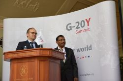 G-20Y Summit 2013 Closing Ceremony.Committee II Co-Chairs: Rama Kishore Erukulla, Rolf T. Pasel