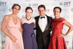 "G-20Y Summit 2013 Grand Imperial Ball ""Silver Angel"" and Closing Gala Dinner: Barbara Kreissler, Ksenia Khoruzhnikova, Vassilis Christakis and Cristina Tamariz"