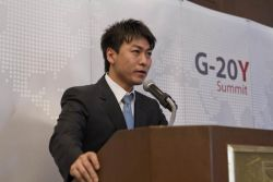 G-20Y Summit Opening Ceremony, participant speech Hojin Jung, Hana Daetoo Securities Co., Ltd., Manager, South Korea
