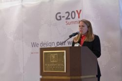 G-20Y Summit Closing Ceremony, Opening speech by the Co-Chair of the Euro zone crisis Committee - Amy McCormick, CME Group, Director, Market Risk Management