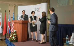 G-20Y Summit 2013 Closing Ceremony: Debra Crew, Patrick Scott Lawlis, Ksenia Khoruzhnikova and Jean-Luc Larribau