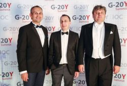 "G-20Y Summit 2013 Grand Imperial Ball ""Silver Angel"" and Closing Gala Dinner: Ayrat Bashirov, Vladimir Kozlovskiy and Maxim Marchenko"
