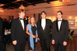 Mr. and Ms. von Girsewald, Deutsche Bank Group, Global Head of Corporate M&A, Timur Abdikeev, opera soloist of the Maryinsky Theatre, Oleg Vaynshtein, classical pianist