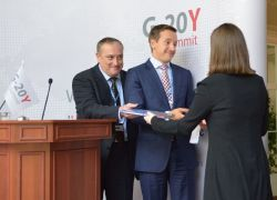 G-20Y Summit 2013 Closing Ceremony: Darren Austin, Anton Kotov and Ksenia Khoruzhnikova