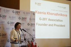Ksenia Khoruzhnikova, G-20Y Association Founder and President