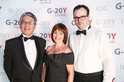 "G-20Y Summit 2013 Grand Imperial Ball ""Silver Angel"" and Closing Gala Dinner: Noriyuki Ikusaka, Ekaterina V. Petelina and Gerd Pircher"